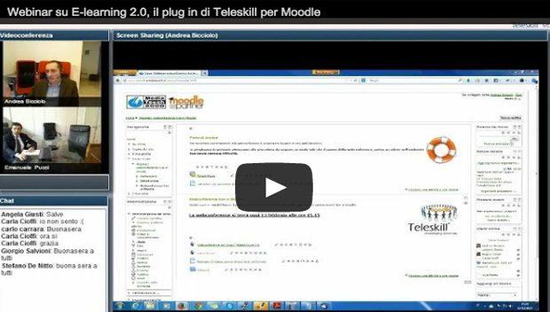 E-learning 2.0. Un webinar per conoscere il plug in di Teleskill per Moodle
