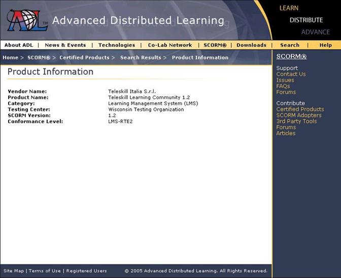 Certificazioni ottenute dalla piattaforma e-learning Teleskill Piattaforma LMS