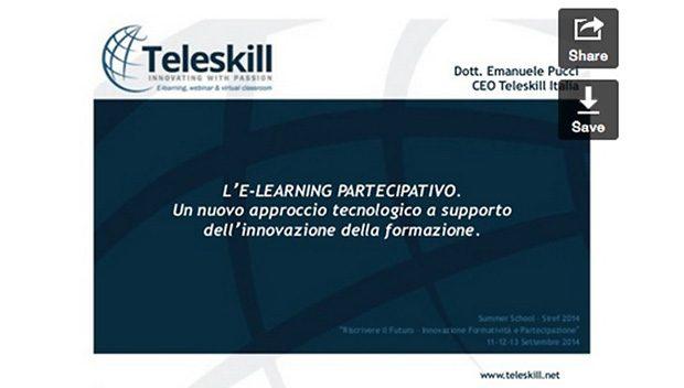 E-learning partecipativo. SIREF Summer School 2014